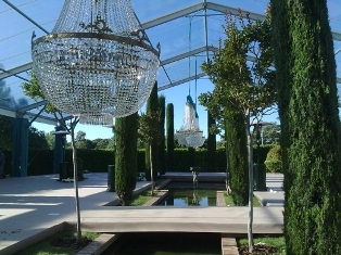 Lamparas de cristal boda Madrid