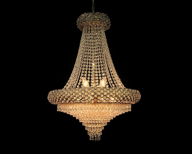 lámpara de cristal imperio Tipo 1A Oro