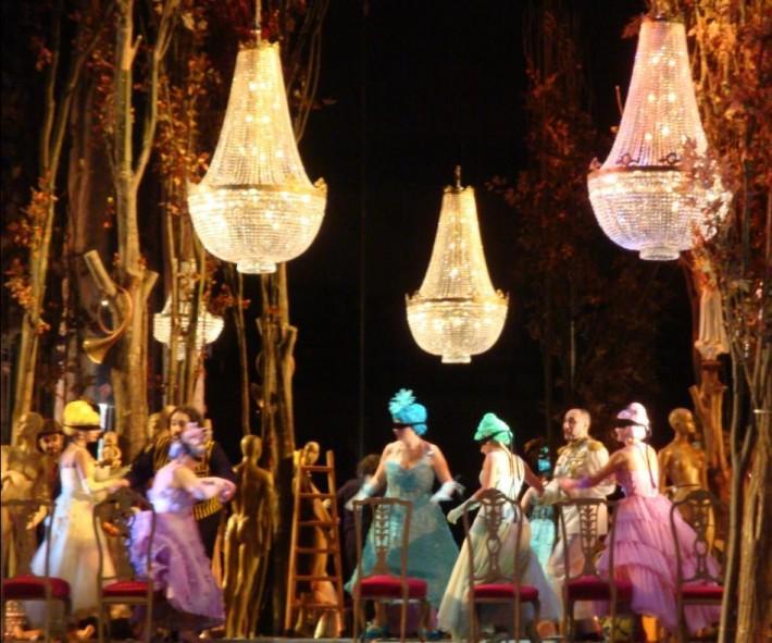 Iluminacion escenario opera Francesa La Cenicienta Andalucia