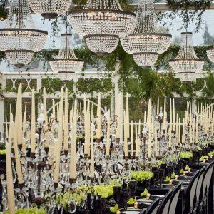 Candelabros y decoracion para bodas