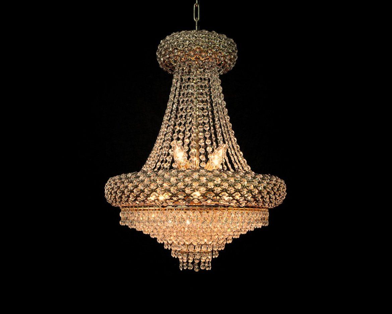 lámpara de cristal imperio Tipo 1 Oro