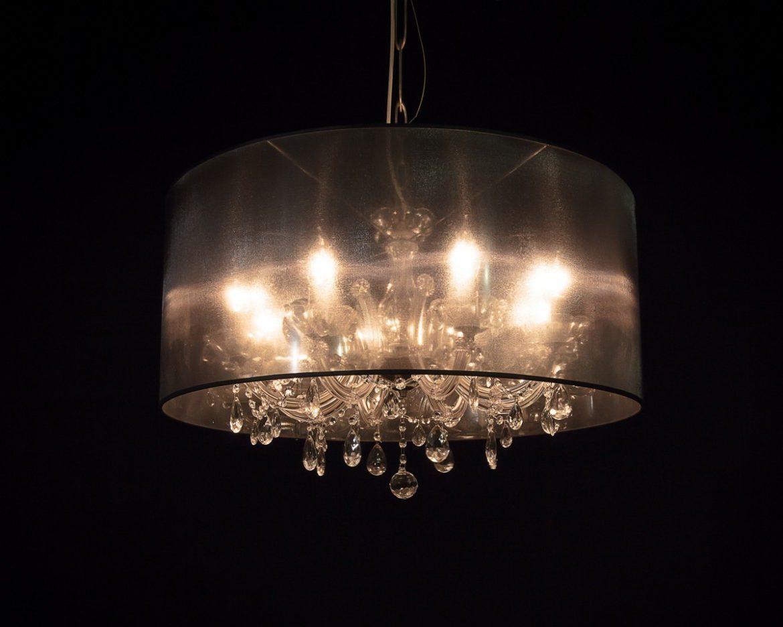 lámpara de cristal Maria Teresa Tipo MT08 negro