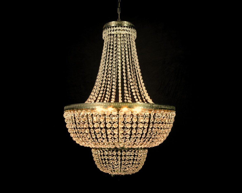 lámpara de cristal imperio Tipo 1A
