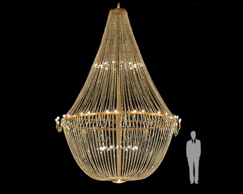 Mega Lámpara de cristal imperio Tipo-6 6 Metros