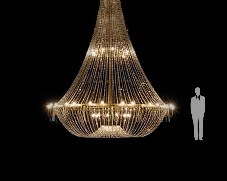 Mega lámpara de cristal imperio Tipo-6  5 Metros
