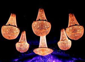 lampara de cristal para alquiler tipo