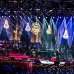 atmósfera maravillosa de un concierto