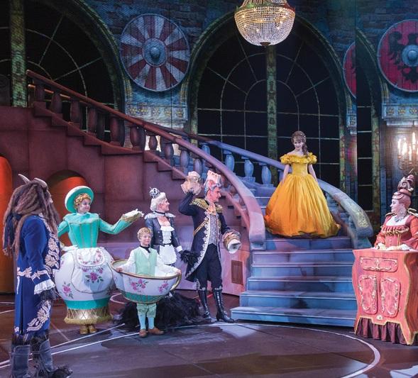 Decoración del Musical de Disney La bella y la bestia